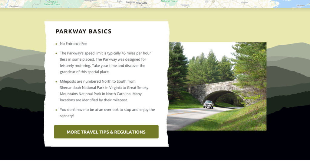 Detail of plan your trip page that shows torn paper texture