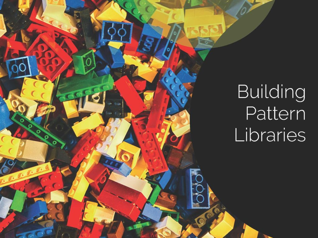 Title slide for Building Pattern Libraries