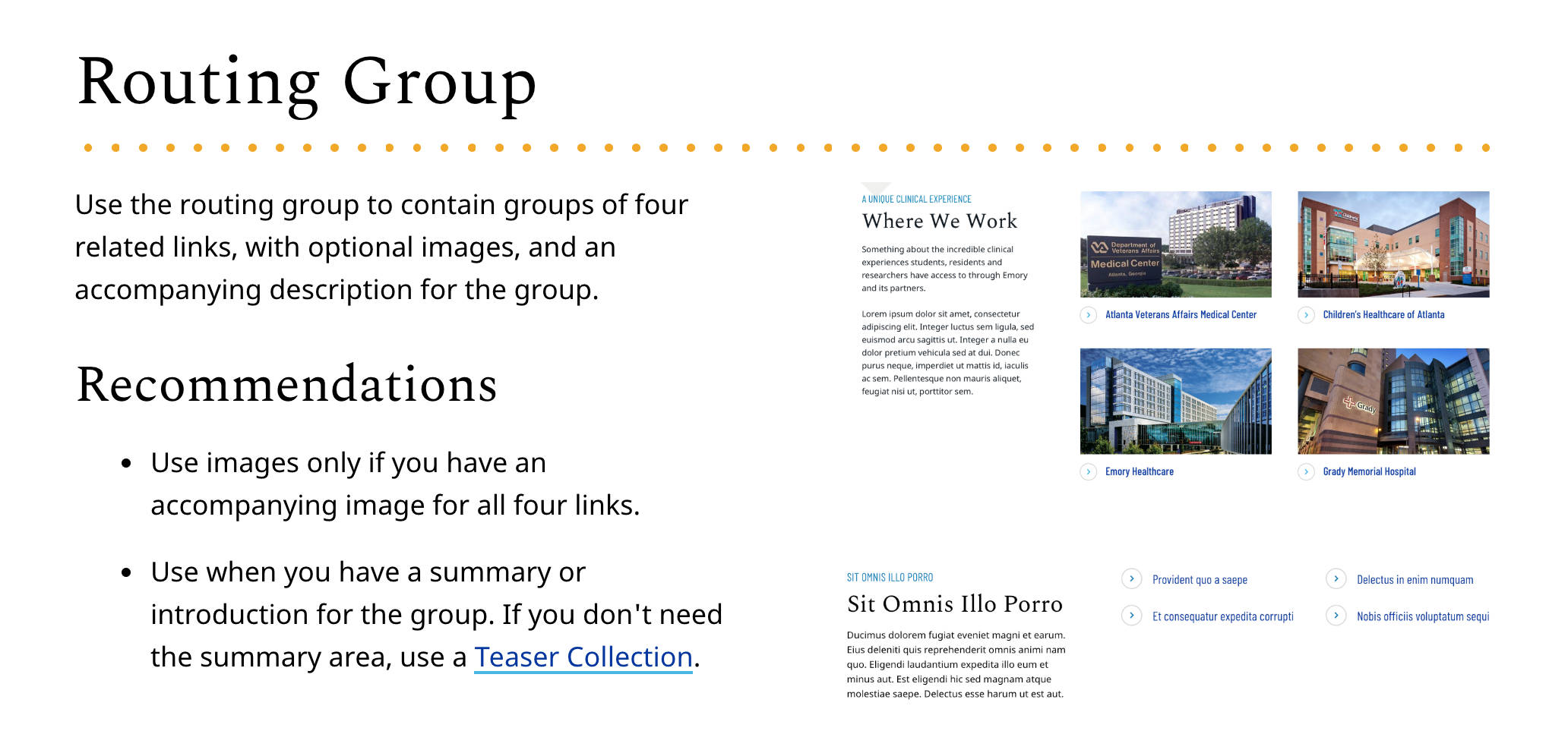 routing group from emory style guide