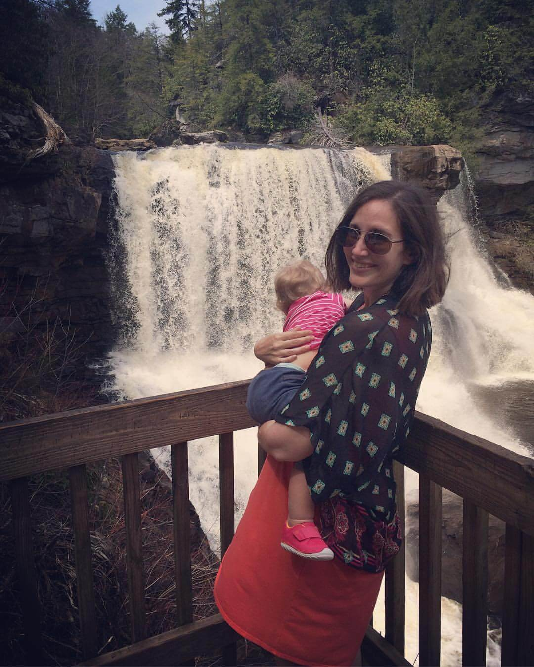 Holding my daughter at Blackwater Falls overlook